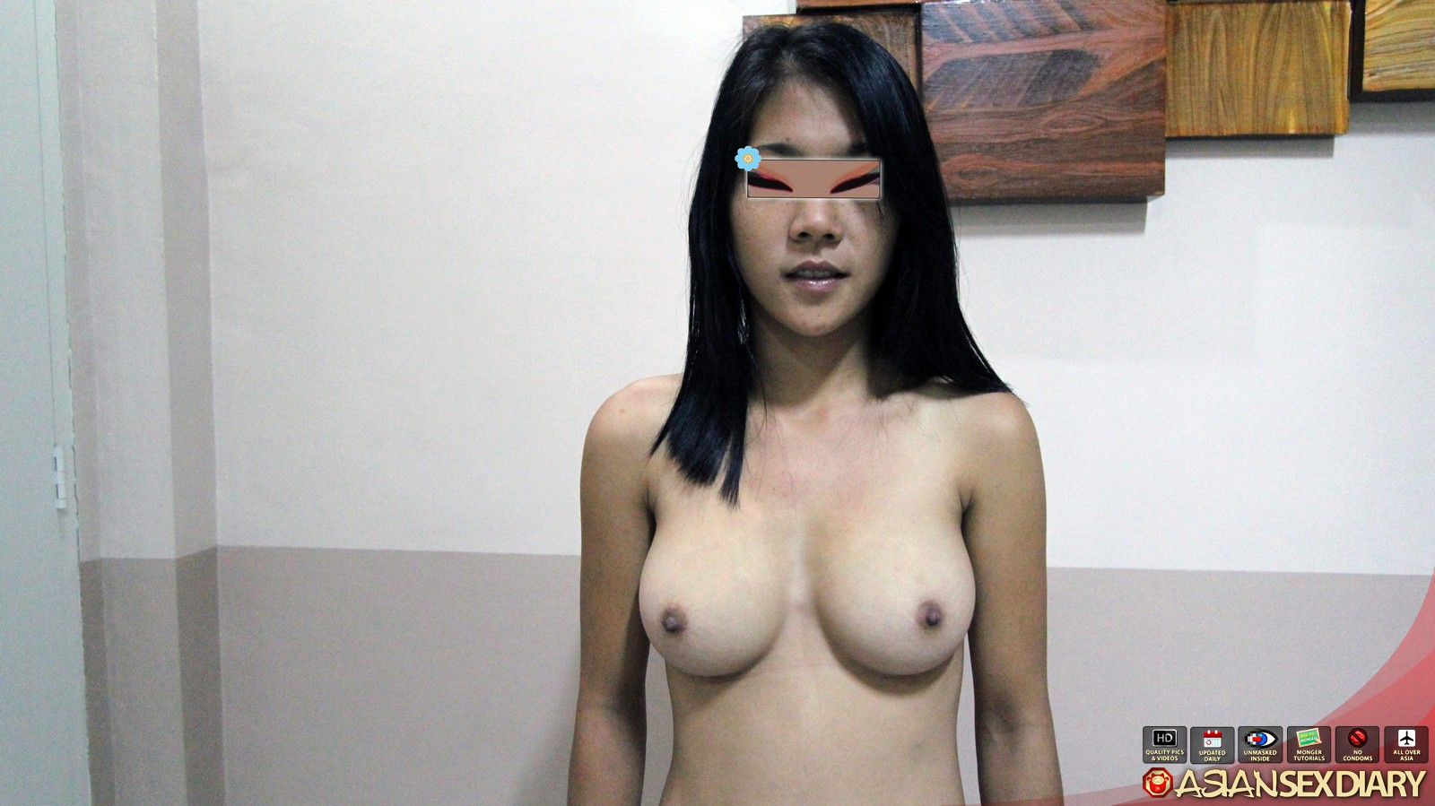 Petite asian girl in lingerie gives you a sloppy blowjob 9