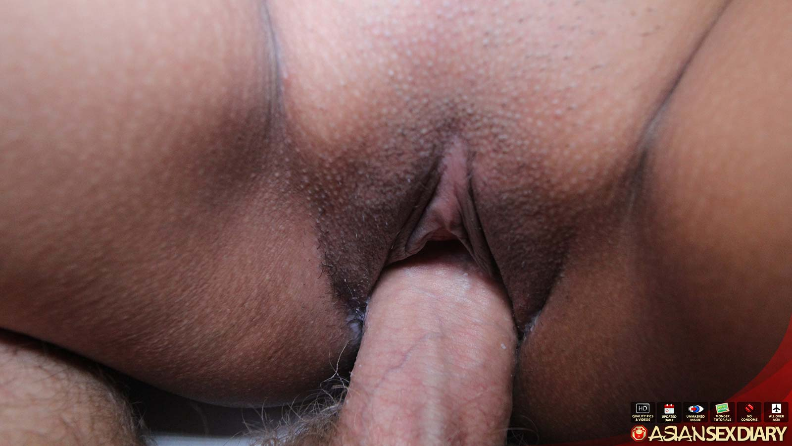 Asian And White Cock